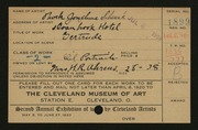 Entry card for Schenck, Phoebe Josephine for the 1920 May Show.