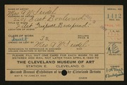 Entry card for Seidel, Mrs. A. N. for the 1920 May Show.