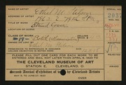 Entry card for Stilson, Ethel for the 1920 May Show.