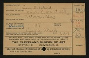 Entry card for Ward, Lucy S. for the 1920 May Show.