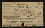 Entry card for Burton, John S. for the 1921 May Show.