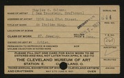 Entry card for Colman, Charles C., and Tronstein, Sam for the 1921 May Show.