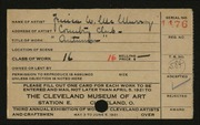 Entry card for McMurray, Jessica Wakem for the 1921 May Show.