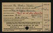 Entry card for Potter and Mellen , and Burton, John S.; Kurz, Carl; Potter, Florence Loomis; Potter, Horace Ephraim for the 1921 May Show.