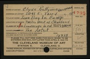 Entry card for Prettyman, Clyde for the 1921 May Show.