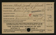 Entry card for Schenck, Phoebe Josephine for the 1921 May Show.