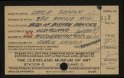 Entry card for Semon, Carle Edwin for the 1921 May Show.