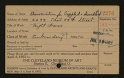 Entry card for Association for the Crippled and Disabled for the 1922 May Show.