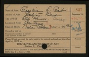 Entry card for Coit, Caroline E. for the 1922 May Show.