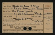 Entry card for Flory, Julia McCune for the 1922 May Show.
