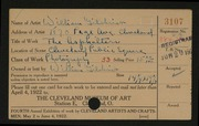 Entry card for Gilchrist, William for the 1922 May Show.