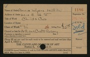 Entry card for Hill, Anna Wyers for the 1922 May Show.