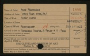 Entry card for Kharnulak, Anne for the 1922 May Show.