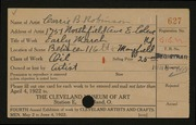 Entry card for Robinson, Carrie B. for the 1922 May Show.