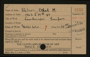 Entry card for Stilson, Ethel for the 1922 May Show.