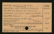 Entry card for Brough, Walter H. for the 1923 May Show.