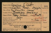 Entry card for Coit, Caroline E. for the 1923 May Show.