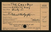 Entry card for Crosbys, The for the 1923 May Show.
