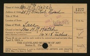 Entry card for Hatch, Mrs. Henry R. for the 1923 May Show.