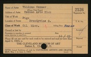 Entry card for Sommer, William, and Kokoon Arts Club (Cleveland, Ohio) for the 1923 May Show.