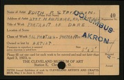 Entry card for Wright, Edith Stevenson for the 1923 May Show.