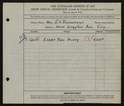 Entry card for Bannerman, Mrs. S. A. for the 1924 May Show.