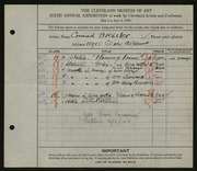 Entry card for Dressler, Conrad for the 1924 May Show.