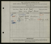 Entry card for Foote, Mrs. A. W. for the 1924 May Show.