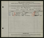 Entry card for Hefele, Joseph A. for the 1924 May Show.