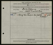 Entry card for Hoffman, Belle Mildred for the 1924 May Show.