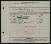 Entry card for Lederle, Charles for the 1924 May Show.