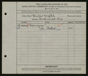 Entry card for Stephia, Joe, and Rainbow Hospital for Crippled and Convalescent Children for the 1924 May Show.