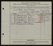 Entry card for Tillman, Ruth Ann for the 1924 May Show.