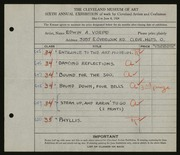 Entry card for Vorpe, Edwin A. for the 1924 May Show.