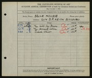 Entry card for Moore, Bruce for the 1925 May Show.