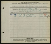 Entry card for Ogden, Clara M. for the 1925 May Show.