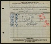 Entry card for Rebeck, Steven A. for the 1925 May Show.