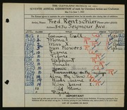 Entry card for Rentschler, Fred for the 1925 May Show.