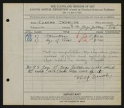Entry card for Dressler, Conrad for the 1926 May Show.