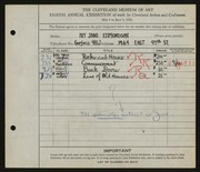 Entry card for Edmondson, Ivy Jane for the 1926 May Show.