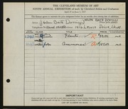 Entry card for Dominzi, Helen Bate for the 1927 May Show.