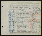 Entry card for Reindel, William George for the 1927 May Show.