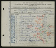Entry card for Bachofen, Max Albin for the 1928 May Show.