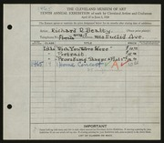 Entry card for Beatty, Richard R. for the 1928 May Show.