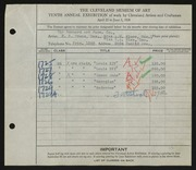 Entry card for Bonhard Art Furniture Company, and Evans, Harold E.; Place, A. M.; Wise, E. A.  for the 1928 May Show.