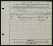 Entry card for Busch, Hans for the 1928 May Show.