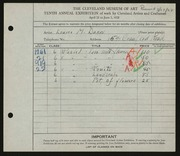 Entry card for Dunn, Louise Morrison for the 1928 May Show.