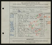 Entry card for Eastman, William Joseph for the 1928 May Show.
