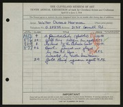 Entry card for Harmon, Walter Duane, and Dyer, Nora E. for the 1928 May Show.