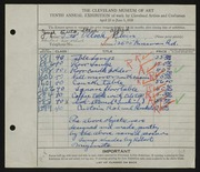 Entry card for Klein, Alfred, and Ollock, Steve; Suto, Joseph for the 1928 May Show.